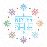Winter sale background Stock Image