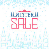 Winter sale background Stock Photography