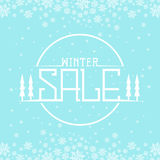 Winter sale background Royalty Free Stock Images