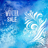 Winter sale background watercolor Royalty Free Stock Photos