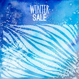 Winter sale background watercolor Royalty Free Stock Images