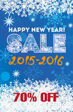 Winter sale backgrounds. New year  illustration Royalty Free Stock Photos