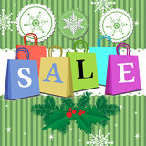 Winter sale bags Royalty Free Stock Photography