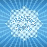 Winter sale banner Stock Images