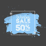 Winter sale banner. Brush grunge texture bacground. Vector illustration Royalty Free Stock Image