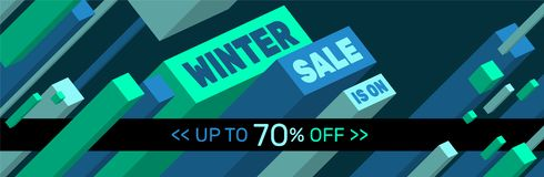 WINTER SALE IS ON - Banner design - Up to 70% off stock photography