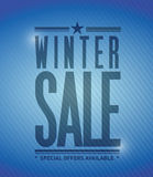 Winter sale banner illustration design Stock Images