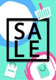 Winter Sale Banner, Poster, Flyer A4. Eps 10 Royalty Free Stock Photography