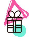 Winter Sale Banner, Poster, Flyer A4 with Gift. Line vector illustration. Eps 10 stock illustration