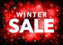 Winter sale banner stock illustration