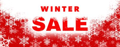 Winter sale banner Royalty Free Stock Photos