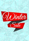 Winter sale banner with snowflakes Royalty Free Stock Image