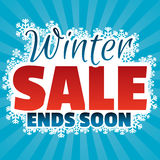 Winter sale banner with snowflakes Stock Photos