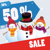Winter sale banner template Royalty Free Stock Images