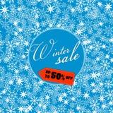 Winter sale banner, vector illustration Stock Images
