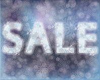 Winter sale banner, vector illustration Stock Images