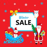 Winter sale banner. Vector illustration of Christmas shopping Stock Images