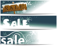 Winter sale banners Stock Photos