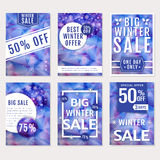 Winter sale banners. Vector set. Royalty Free Stock Image