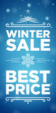 Winter sale and Best price banner Stock Photos