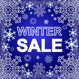 Winter Sale on a blue Background. Royalty Free Stock Image