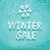 Winter sale blue frosty card Stock Images