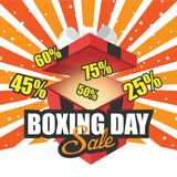 Winter Sale Boxing Day Orange Background Vector Image Stock Photography