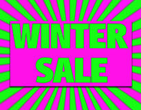 Winter sale bright background Stock Photography