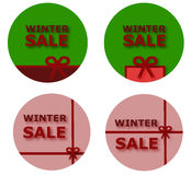 Winter sale buttons Royalty Free Stock Photo
