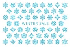 Winter sale card with snow crystals. royalty free illustration