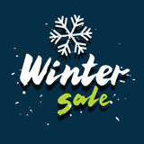 Winter sale card Royalty Free Stock Image