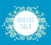 Winter sale card Stock Photography