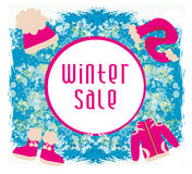 Winter sale card Royalty Free Stock Photography
