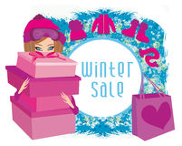 Winter sale card Stock Photo