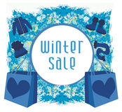 Winter sale card Stock Images