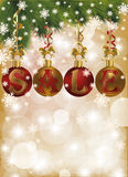 Winter sale card with xmas balls Royalty Free Stock Image