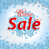 Winter Sale. Christmas balls Royalty Free Stock Photography