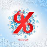 Winter Sale. Christmas balls Stock Images