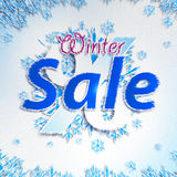 Winter Sale. Christmas balls Royalty Free Stock Photos
