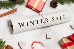 Winter sale. And christmas decoration Stock Photography