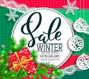Winter sale christmas design royalty free stock photography