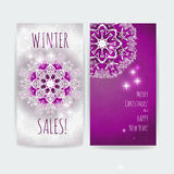 Winter sale. Christmas design vector print artwork template Stock Images