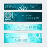 Winter sale. Christmas design vector web template Royalty Free Stock Photography