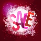 Winter sale colorful typography at cool winter background Royalty Free Stock Photo