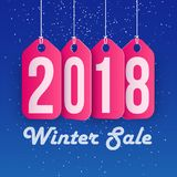 Winter Sale concept shopping and business promotion, 2018 year Stock Image