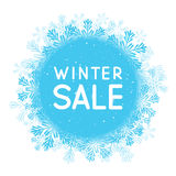 Winter sale concept Royalty Free Stock Photography
