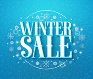 Winter sale 3D text illustration in winter background of Royalty Free Stock Photography
