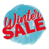 Winter sale 3D text vector illustration in winter background. Big winter sale Royalty Free Stock Photography