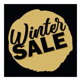 Winter sale 3D text vector illustration in winter background. Big winter sale Royalty Free Stock Photo