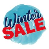 Winter sale 3D text vector illustration in winter background Royalty Free Stock Photos
